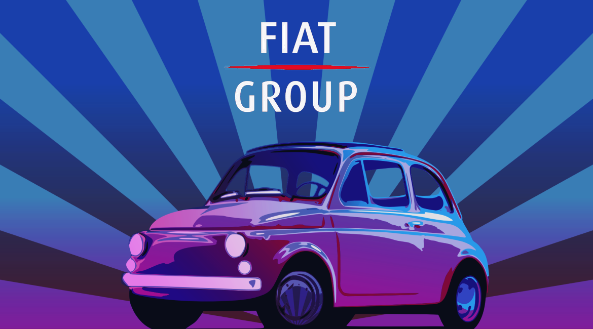 Fiat Group logo and car