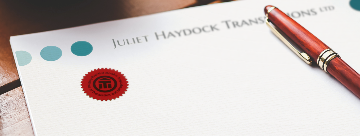 Translations Into Italian: JHT Seal On Headed Paper With Pen